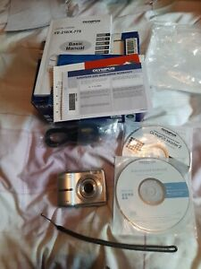 Olympus X-775 Compact Digital Camera 7.1MP with box, manual, cables, wrist strap