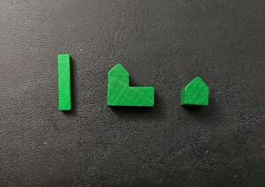 Set of Wood Pieces for Settlers of Catan: roads, settlements & cities - Green