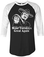 Make Tuesdays Great Again Unisex Raglan T-Shirt Donald Trump Taco