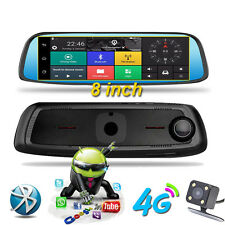 8'' 4G 1080P Car DVR camera GPS Android 5.1 Car RearView Mirror Camera Dash Cam