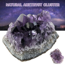 Natural Purple Amethyst Crystal Cluster Rough Stone Healing Rock Collectible