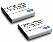 2x Battery For NP-BK1 Sony Cyber-Shot DSC-W180 DSC-W190 DSC-W370 MHS-CM5 Camera