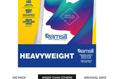 New listing Samsill 200 Clear Heavyweight Sheet Protectors, Reinforced 3 Hole Design Plas.