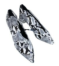 NWOB Zara Woman Snake Block Heel High Heels Shoes Size 7.5