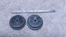 Vintage set of MARX drive wheels ~ Post war ~ Steam Engine Parts