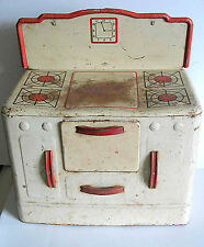 1950s Wolverine Child's Play Toy Kitchen Range Oven Metal Tin Litho FREE SH