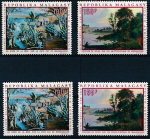 [P16835] Madagascar 1969 : Art - 2x Set Good Very Fine MNH Airmail Stamps