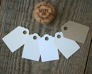Recycled Card Gift or Swing Tags, Small in Kraft Brown & more Natural Shades