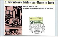 Sellos comer 1986 sello especial maschinenfrankatur