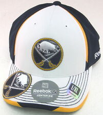 NHL Buffalo Sabres Multi-Color Pro Shape Fitted Hat By Reebok, Size L/XL