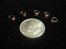 CHILD / BABY RINGS IN 14K YELLOW GOLD CHARM / PENDANT DIFFERENT STONES TO CHOOSE