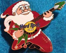 Hard Rock Cafe OSAKA 2000 Christmas PIN Santa Playing Green Guitar - HRC #7145