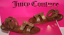 NIB Womens Juicy Couture Zizia Bronze Metallic Leather Sandals Shoes Size 7