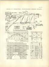 1893 More Details Of Construction For Transportation Exhibits Building Drawings