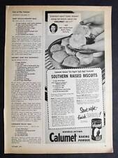 Dated 1953 Calumet Ad Photo Endorsement by Mrs Rosie Foley of Renfro Valley KY