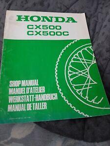 Werstatthandbuch Nachtrag Honda CX500