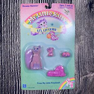 Vintage 1990 My Little Kitty Li'L Litters Dreamy Siamese My Little Pony MLP NEW