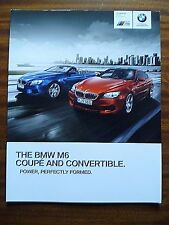BMW M6 COUPE & CONVERTIBLE CAR BROCHURE 2014
