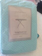 Sheffield Home Ironing Board Cover Turquoise With White Polka Dots Dot Ni