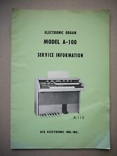 Ace Electronic Model A-100 Service Information A-112 Manual