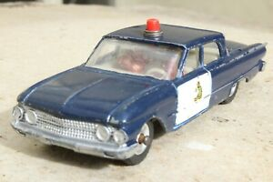 DINKY 264 RCMP FORD FAIRLANE CANADIAN POLICE CAR 1960s