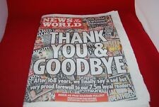 News of The World Last Ever edition No 8674 July 10 2011