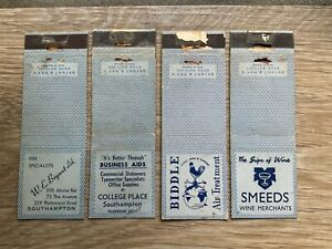 Four Old Bryant & Mays Blue Advertising Matchbook Covers