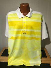 Mens Oakley Hydrolix Regular Fit S/S Polo/Golf Shirt Size 2XL (XXL) Striped