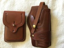 1911 El Paso, Tx Classic Old West Style Holster & Double Mag Pouch
