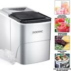 FOOING Ice Maker Machine Countertop 26Lbs/24H Portable W/ Scoop & Basket Silver photo