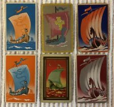 6 Vintage Playing Cards ~Ancient Sailing Vessels ~Horse Figureheads ~Extra Joker