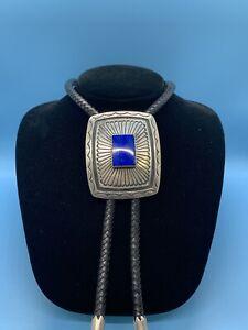 Southwestern Sterling Silver Lapis-Lazuli Bolo-Tie