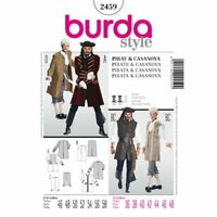 Burda Style Pattern 2459 Pirate Costume Cosplay Pattern Adult sized A