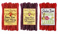Shadow River Gourmet Licorice Candy 3 Pack - Huckleberry, Cherry, Prickly Pear