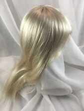"14/15"" Long Straight Bangs Lt  Blonde Doll Wig Reborn OOAK BJD Repair DANIELLE"