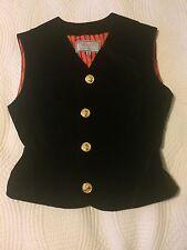 Gianni Versace Women's Black Velvet Vintage Waistcoat size 28/42
