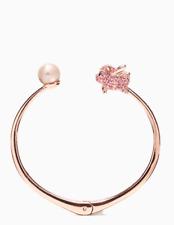 Kate Spade New York Imagination Pig Open Hinge 12K Pearl Rose Gold Bracelet