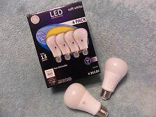GE 60W LED Light Bulb,4 Pack, Green Incandescent Equal,13 Yr Life, 5 Yr Warranty