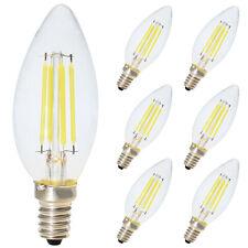 6x 4W E14 LED Kerzenform Filament Classic Glühfaden LED Kerzen Lampe Kaltweiß