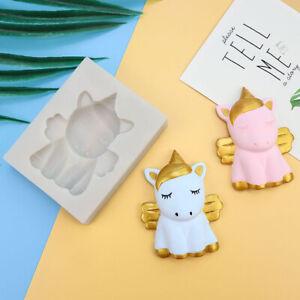 Unicorn Silicone Fondant Mould Cake Decorating Sugar Craft Topper Chocolate Mold