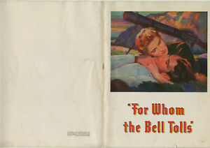 FOR WHOM THE BELL TOLLS • 1943 Release • 20 page U.S. Program • Complete