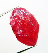 28 CT NATURAL UNHEATED RED RUBY CORUNDUM ROUGH GEMSTONE