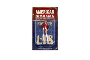 "Race Day 2 1:18 Scale American Diorama Figurine Figure V Lady Female 4"""