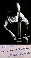 1958 Cellist PABLO CASALS Hand SIGNED AUTOGRAPH LETTER +ACTION PHOTO + ALS + MAT