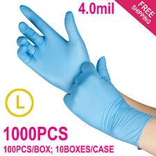 1000/Case Disposable Powder-Free Nitrile Medical Exam (Latex Free) Gloves -Large