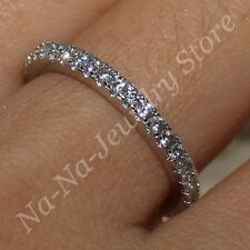 Size 5-11 NICE Handmade 925 Silver White Sapphire Engagement Wedding Band Ring