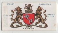 Bremen Germany City Coat Of Arms Germany 100+ Y/O  Ad Trade Card