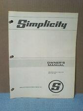 Simplicity #504 540 R.P.M. Rear Pto Installation, Owners, Parts Manual Original