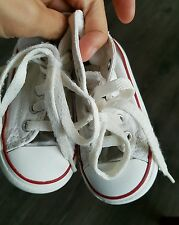 All Star Converse kids infants white trainers size UK 5