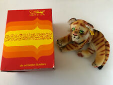 Collectors Limited Edition 1983 Steiff Lying Tiger w/ Box - Button & ID 0112 /17